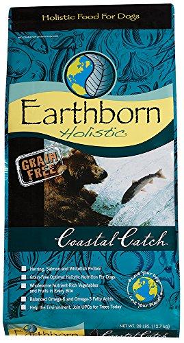 LLC Earthborn Holistic Futter Coastal Catch-Trockenfutter für Hunde, 28-pound Tasche (Formeln Heidelbeere)