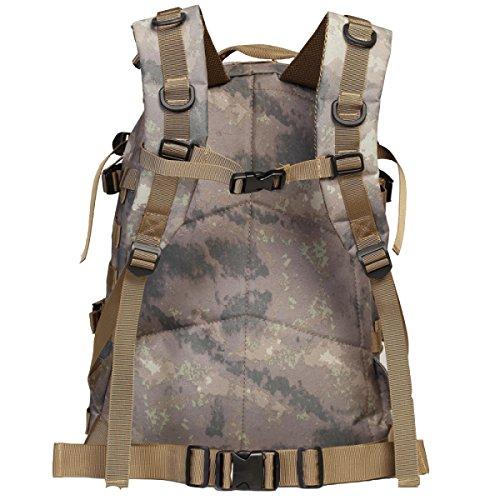 Yy.f Militärische Taktik Rucksack Militärischer Angriff Rucksäcke Rucksack Outdoor-Sport Wandern Camping Reiten. Multicolor Black