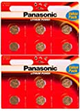 Panasonic CR-2032 Lithium Coin Battery - Pack of 12