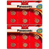 Panasonic - Piles bouton Lithium CR-2032 - Pack de 12