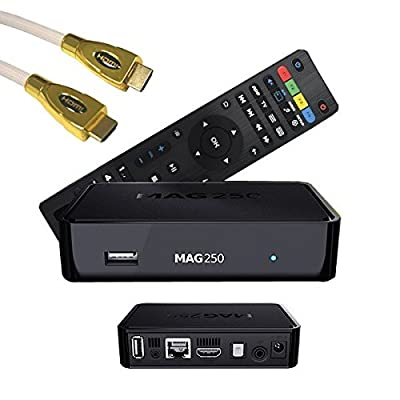 MAG 250 BOX Multimedia player Internet TV Box IPTV Original USB HDMI HDTV + PremiumX HDMI Kabel 1 Meter