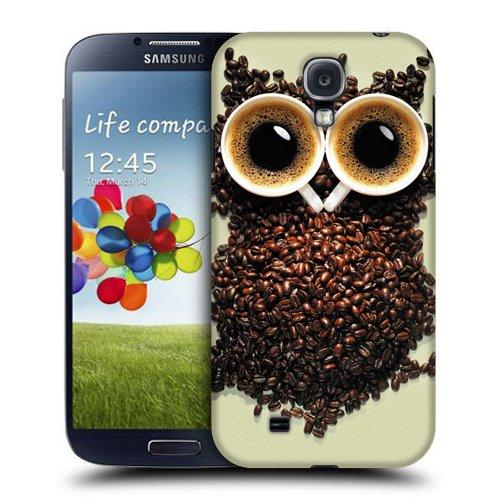 Case Fun Coffee Bean Owl snap-on cover posteriore rigida per Samsung Galaxy S4(i9500)