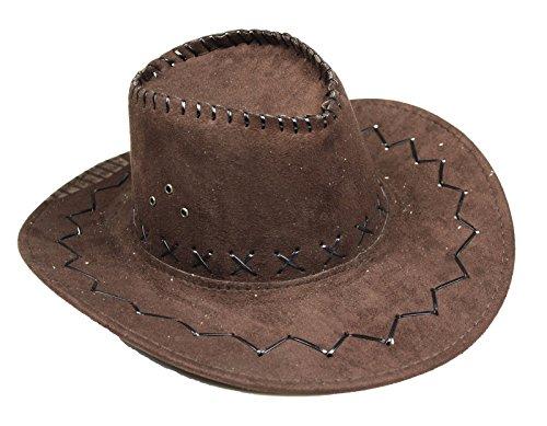 (Braun Western Cowboyhut Unisex Kostüm für Kinder Erwachsene Halloween Party Gr. Large, braun)