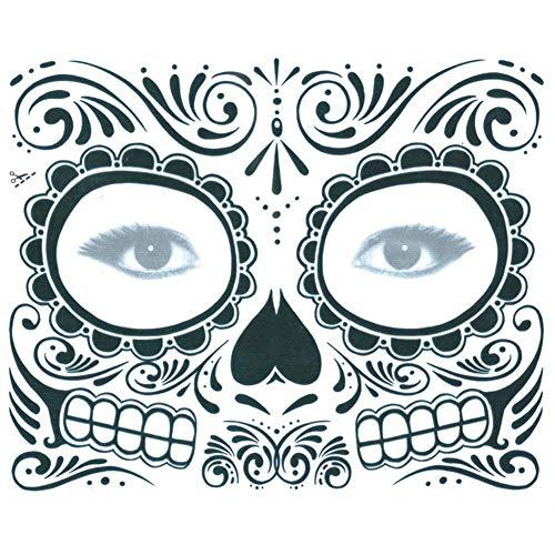 Mode Halloween-Gesichts-Tätowierung-Aufkleber wasserdichtes Körper-Kunst Aufkleber Bühne Requisiten Makeup 150 * 125mm