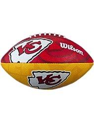 Wilson Football NFL Junior Kansas City Chiefs Logo - Balón de fútbol americano ( infantil, caucho ) , color multicolor, talla 5