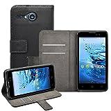 Membrane - Noir Portefeuille Etui Coque Acer Liquid Z520 - Wallet Case Housse + 2 Protections d'écran