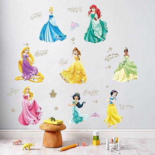 ufengke® Dibujos Animados Princesa Blanca De La Nieve Calcomanías De Pared, Vivero Habitación de los Niños Removible Etiquetas de la Pared Murales