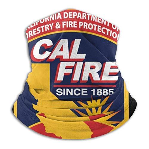 Miedhki Outdoor Gesichtsmaske Nackenschutz für Staub Sonnenschutz Kopfwickel Cal Fire Men Women -