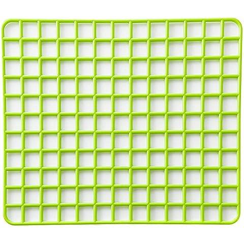 TININNA 4 Pcs Utensili da cucina,Scolapiatti in plastica,Tappetino sgocciolatoio.-verde