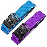 Cinghia Regolabile per Bagaglio/cinghia incrociata per bagagli con serratura a combinazione, Cintura di sicurezza per accessori da viaggio