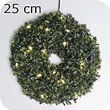 LED-Buchsbaumkranz Größe: 25 cm Ø