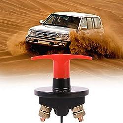 Ai CAR FUN Coupe Batterie pour Coupure Circuit Electrique, 12V-24V 150Ah Interrupteur de Batterie Isolateur Principal d'anti-Fuite pour Voiture Auto Camion Bateau Véhicule Micro Tracteur Trike