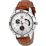 Fogg Analog White Dial Men's Watch 1094-BR