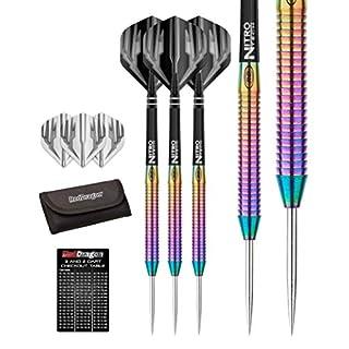 Razor Edge Spectron 24g - 85% Tungsten Darts Set (Steel Dartpfeile) mit Flights & Schäfte