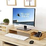 Monitorständer, Desktop-Monitor-Riser, TV-Ständer und Schreibtisch-Organizer, mit Steckplätzen für Bürobedarf und Stauraum für Tastatur und Maus, Wide Screen Riser für Computer-Monitor (Stand)