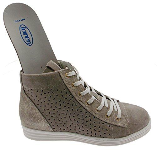art C3689 lacci sneacker taupe tortora ortopedica cerniera sneaker scarpa donna 39 tortora