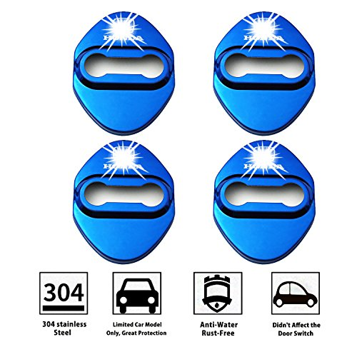 LFOTPP CIVIC001 Edelstahl Auto Türschlossabdeckung Innenraum Schutz Zubehör Türverriegelung Abdeckung Blau (2015-honda Civic-zubehör)