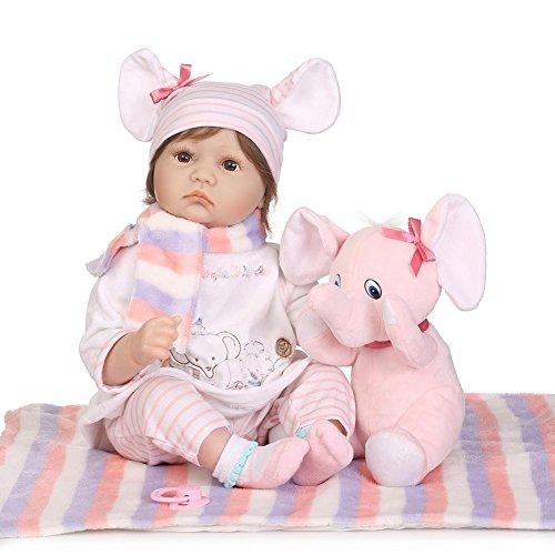 (Ecotrumpuk Reborn Puppen 55cm Mädchen Junge Silikon schön Reborn Baby Tiermodellierung)