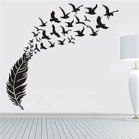 Pared de Etiqueta, Logobeing DIY Aves Extraíbles Pared Calcomanía Familia Casa Pegatina Mural Arte Decoración Del Hogar (Blanco Y Negro)