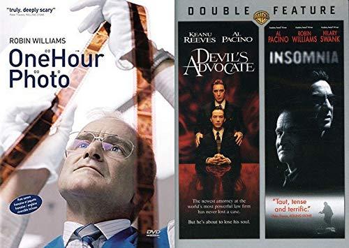 Getting CREEPY With Robin and Al Triple Feature: One Hour Photo & Devil's Advocate/ Insomnia DVD set Al Pacino Robin Williams