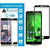 Sparkling Trends™ 5D Full Glue Edge To Edge Tempered Glass Screen Protector For Moto G6 (Black)