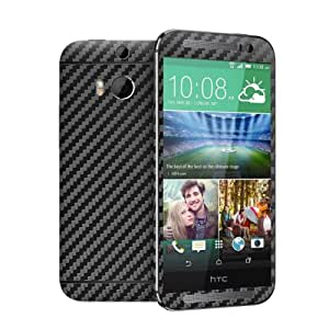 Cruzerlite Carbon Fiber Skin for the All New HTC One (M8) 2014 - Retail Packaging - Black (Full Kit - Back,Front,Sides)