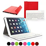 iPad 2 3 4 Deutsche Bluetooth Tastatur,CoastaCloud Ultra-Thin QWERTZ Deutsche Bluetooth Tastatur Keyboard Case für Apple iPad 2 (A1395 A1396 A1397) ; iPad 3 (A1416 A1430 A1403); iPad 4 (A1458 A1459 A1460)Rot