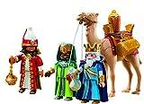 Playmobil Navidad 5589. Conjunto 3 Reyes Magos con camello y regalos....