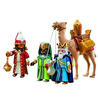 Playmobil Navidad 5589. Conjunto 3 Reyes Magos con camello y regalos. 59 piezas