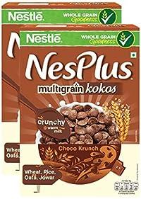 More Combo - Nestle NesPlus Breakfast Cereal, Multigrain Kokos – Choco Crunch, 350g (Pack of 2) Promo Pack