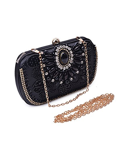 Borse Sera La nuova Europa e gli Stati Uniti moda di lusso diamante fatti a mano il pacchetto cena Borsa serale Borsette Black