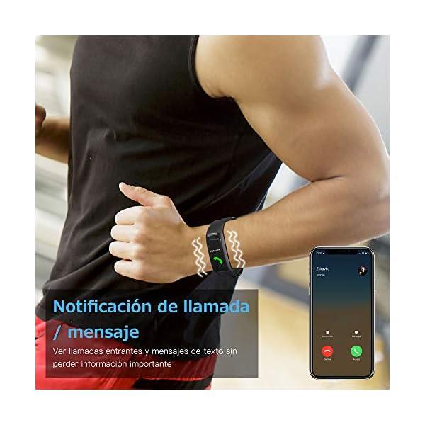 Sonkir Fitness Tracker HR, Reloj de Seguimiento de Actividad con Monitor de frecuencia cardíaca, podómetro, Contador de calorías, Monitor para Dormir, Pulsera Inteligente Resistente al Agua IP68 5