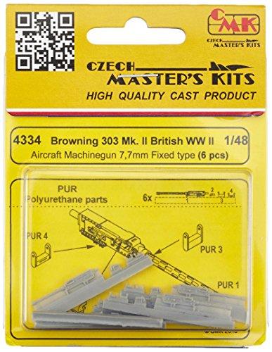 CMK 4334 - Modelo Accesorios Browning 303 MK II británica los Aviones de la Ametralladora DE 7,7 mm, de Tipo Fijo, 6 Piezas, Gris