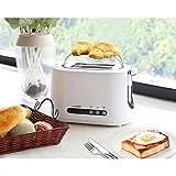 Aigostar Brotchen Weiß 30HMC - Toaster, 850W, 2-Scheibe mit einstellbarer Temperaturregelung, BPA frei. Exklusives Design. - 9