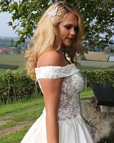 Luxus Brautkleid Hochzeitskleid Weiß nach Maß - 2