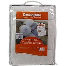Dunlopillo PLARLH160200DPO - Protección de colchones de 160 x 200 cm, color blanco
