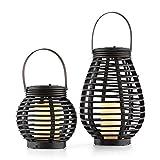 blumfeldt Lucid Twins • Solarleuchten • Solarlampen • Gartendeko • stromnetzunabhängig • solar • umweltfreundlich • LED warmweiß • Deko-Kerze • Lichtakzent • Dämmerungssensor • 600 mAh • braun