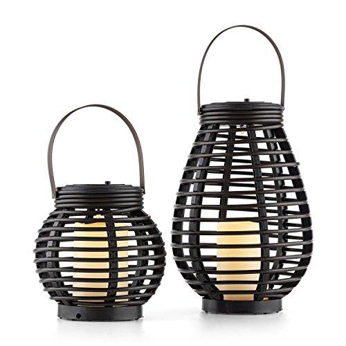Solar Twin Sensor (blumfeldt Lucid Twins • Solarleuchten • Solarlampen • Gartendeko • stromnetzunabhängig • solar • umweltfreundlich • LED warmweiß • Deko-Kerze • Lichtakzent • Dämmerungssensor • 600 mAh • braun)