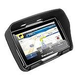 Excelvan - Navegador GPS Para Coche y Motos (Pantalla TFT 4.3'', Windows CE 6.0, Impermeable IPX7, Bluetooth, 8Gb, Mapas Gratuitos para Descargar, Navegación con Voz, Idiomas Compatibles) (Negro)