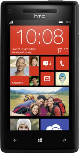 HTC Windows Phone 8X Smartphone (10,9 cm (4,3 Zoll) Super LCD Touchscreen, 1,5 GHz Dual-Core-Prozessor, 1 GB RAM, 8 Megapixel Kamera, 16 GB interner Speicher, NFC-fähig, Windows Phone 8 OS) schwarz (Windows Phone Htc)