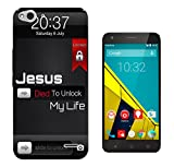 003286 - Jesus died to unlock my life funny phone lock Design Vodafone Smart ultra 6 Fashion Trend CASE Gel Rubber Silicone All Edges Protection Case Cover