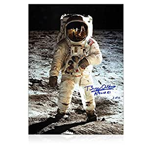 Buzz Aldrin photographie signée: Apollo 11 alunissage