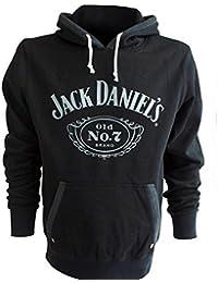 JACK DANIELS HOODIE SWEATSHIRT MIT KAPUZE Pullover Schwarz mit Logo S M L XL