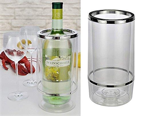 Bambelaa! Weinkühler Sektkühler Flaschenkühler doppelwandig ... (Plastik, 1 Stück)