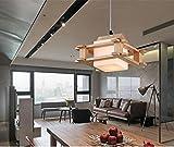 Nodark chandelier Sencillo Madera Pasillo De La LáMpara Estilo JaponéS Y Coreano Creativo Personalidad Los Accesorios De IluminacióN Dormitorio Restaurante Estudio Mueble Para BañO Accesorios De