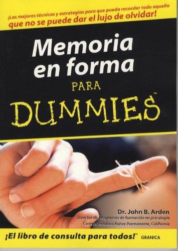 Descargar Libro Memoria en forma para dummies de John Arden