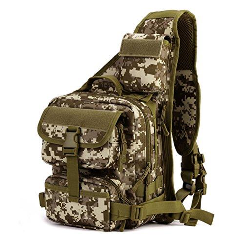 cinmaul militare tattico petto pack Borsa MOLLE Zaino Grande borsa a tracolla Crossbody petto Duty Gear per escursionismo e campeggio trekking, Uomo, CP Camouflage Desert Camouflage
