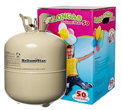 Helium für Luftballons als Partygag - HeliumStar® Heliumflasche für max. 50 Ballons - Partyzubehör für verschiedenste Anlässe - Luftballongas besitzt großen Fun-Faktor