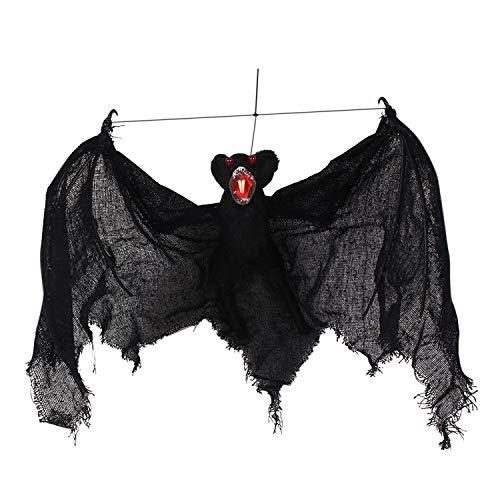 Pet Fledermaus Kostüm - semen Party Dekoration Glitzer Halloween Fledermaus Deko Halloween Pet Kostüm Spooky Hängenden Fledermäuse Schwarz