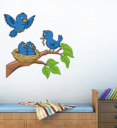 Decals Design 'Birds Feeding' Wall Sticker (PVC Vinyl, 70 cm x 50...